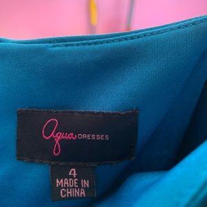 Aqua Dresses - Teal aqua spaghetti dress